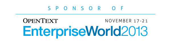 OpenText Enterprise World Sponsor
